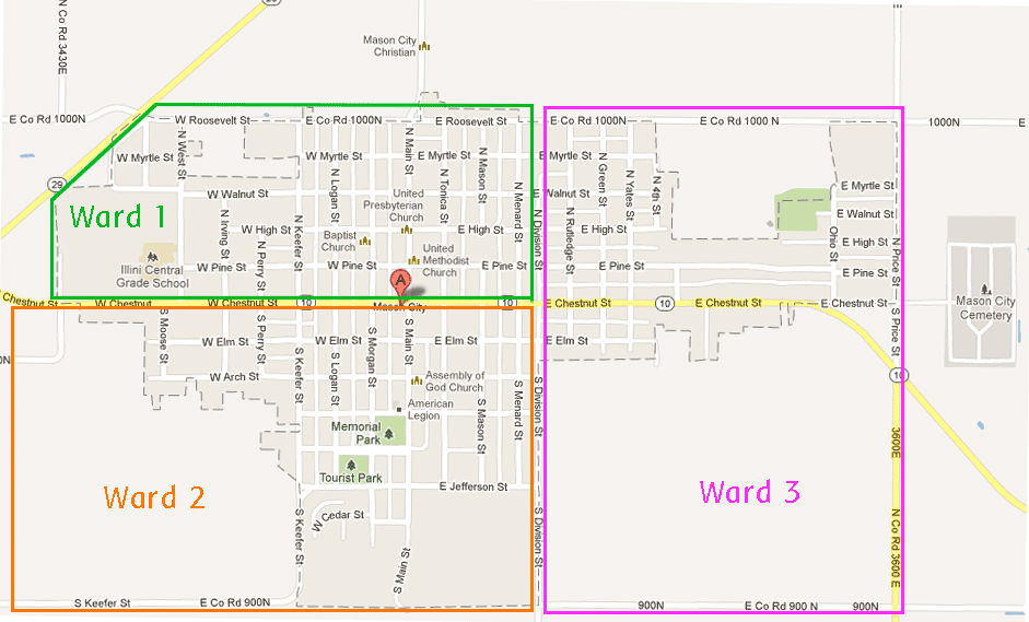Mason City Ward Map